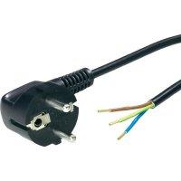 Síťový kabel LappKabel, zástrčka/otevřený konec, 0,75 mm²,1,5 m, černá