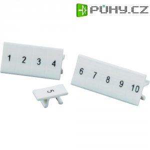 Popisovací pásek Phoenix Contact ZB10,LGS (1053014:0001), potištěno čísly, bílá