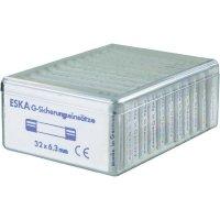 Jemná pojistka ESKA středně pomalá 632820, 6,3 mm x 32 mm, 120 Parts