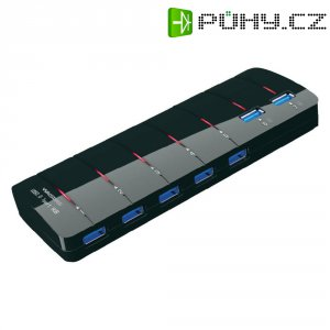 USB 3.0 hub 548484 7 + 2 porty, 174 mm, černá