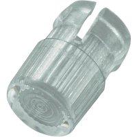 Světelná krytka, EDK-01-PCW, 3 mm, (Ø x v) 4.7 mm x 7.4 mm, transparentní