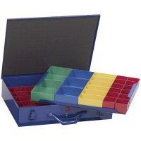 Kufřík na součástky Alutec 10560, 59 přihrádek, 440 x 100 x 300 mm, modrá