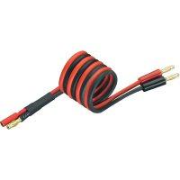Napájecí kabel s bánanky 3 mm zásuvka/zástrčka Modelcraft, 250 mm, 2,5 mm²