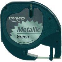 Dymo páska LetraTAG, S0721760,12 mm, zelená/černá