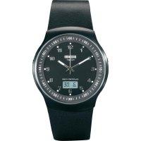 Ručičkové náramkové DCF hodinky Eurochron EFAUT 6501, kožený pásek