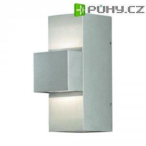Venkovní nástěnné LED svítidlo Konstsmide 7934-310, 9 W, stříbrná/šedá
