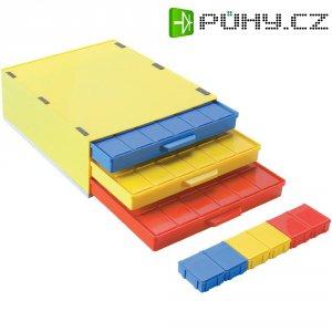 Box pro SMD součástky se 3 přihrádkami Licefa, A1-4 DISS 36, žlutá