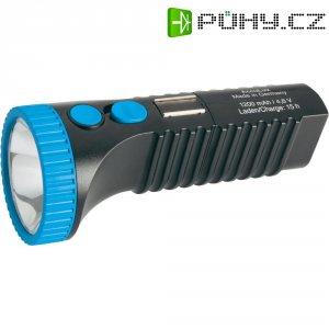 Kapesní LED svítilna AccuLux PowerLux, 422083, 3 W, 100 - 240 V/50 - 60 Hz, černá/modrá