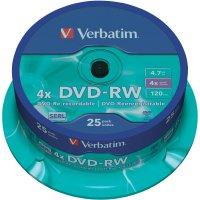 Verbatim DVD-RW 4,7GB 4X 25 ks cake box