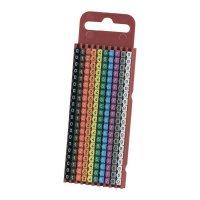 Ident. klips WICR pro prům. 2,8 - 3,8 mm, 200 ks - barevná