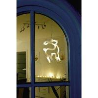 Svítící LED ozdoba na okno, sob