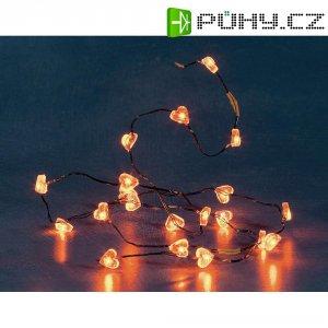 Blikající řetěz s červenými srdíčky Konstsmide, 20 LED, 1,35 m