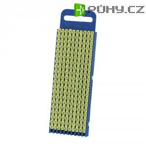 Ident. klips WICR pro prům. 2,8 - 3,8 mm, 200 ks - žlutá
