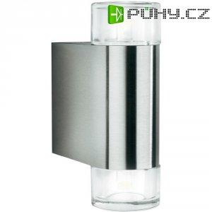 Venkovní nástěnné LED svítidlo Philips 163804716, 2x 5 W, stříbrná