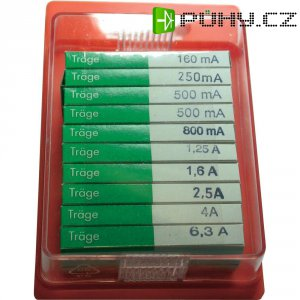 Jemná pojistka ESKA pomalá 122850, 5 mm x 20 mm, 100 Parts