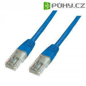 Patch kabel CAT 6 U/UTP RJ 45, vidlice ⇔ vidlice, 0,5 m, modrý