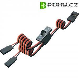 Vypínač s JR konektory Modelcraft, vč. nabíjecího vývodu, 0,14 mm²