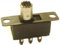 Přepínač posuvný ON-ON 2pol.50V/0,5A
