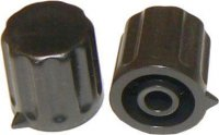 Přístrojový knoflík KP1404, 14x15mm, hřídel 4mm, černý