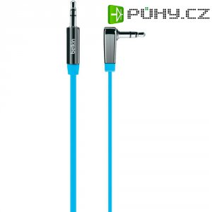Připojovací kabel Belkin, jack zástr. 3.5 mm/jack zástr. 3.5 mm, modrý, 0,9 m
