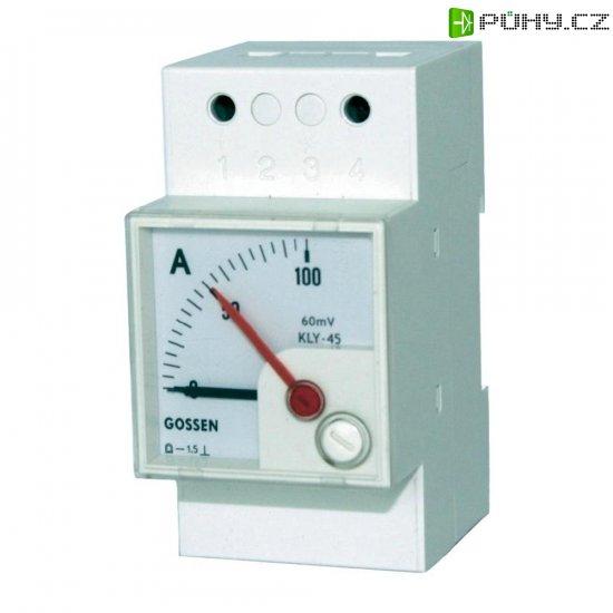 Analogový měřicí přístroj na DIN lištu GMW DQB 45H, MB 60 mV - Kliknutím na obrázek zavřete