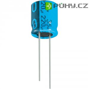 Kondenzátor elektrolytický Jianghai ECR1VPT221MFF501012, 220 µF, 35 V, 20 %, 12,5 x 10 mm