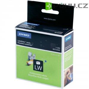 Páska do štítkovače Dymo LW, Typ 11355, S0722550, bílá/černá, 19 x 51 mm, 500 ks