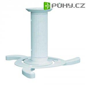 Stropní držák projektoru, otočný o 360 °, nosnost 15 kg, bílý