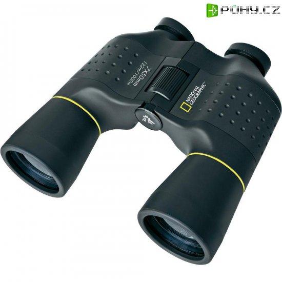 Porro-prizmatický dalekohled National Geographic Porro, 7 x 50 mm, černá - Kliknutím na obrázek zavřete