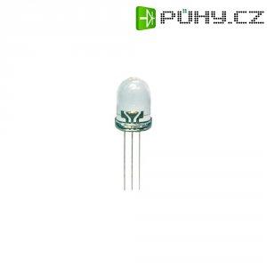 LED dioda kulatá s vývody Kingbright, L-115WGYW, 20 mA, 3 mm, 2,2 V, 60 °, 35 mcd, zelená/žlutá