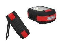 Svítilna LED COB + 3xLED, napájení 3xAAA, červená, TIROSS