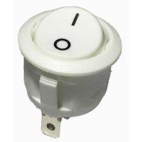 Kolébkový spínač, s aretací, 250 V/AC, 6 A, vyp/zap, bílá
