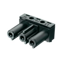 Úhlová síťová zásuvka Adels Contact AC 166 GBULH/3, 250 V, 16 A, černá, 169063