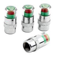 Čepičky ventilků pro zobrazení tlaku v pneumatikách 4ks