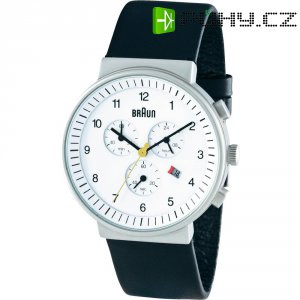 Náramkové hodinky Braun Chrongraph, bílé