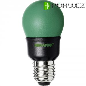 Úsporná žárovka kulatá MegamanParty Color E27, 7 W, zelená