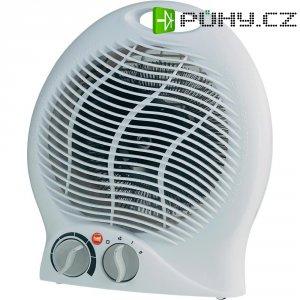 Topný ventilátor s termostatem , 1000/2000 W, bílá