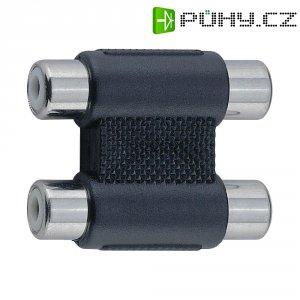 Cinch adaptér, spojka/spojka, stereo BKL Electronic, černá