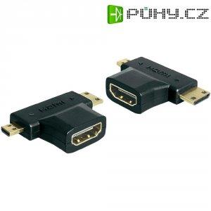 Adaptér HDMI-A na HDMI-C a HDMI-D, zásuvka/zástrčka/zástrčka