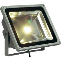 Venkovní LED reflektor SLV 231122 teplá bílá, 50 W, stříbrná/šedá