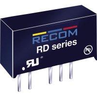 DC/DC měnič Recom RD-1215D (10000226), vstup 12 V/DC, výstup ±15 V/DC, ±66 mA, 2 W