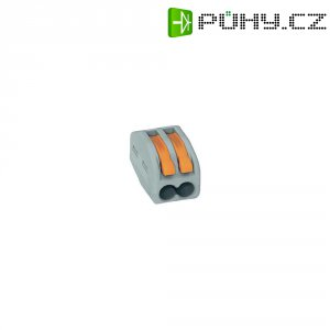 Svorka Wago, 51196506, 0,08 - 2,5/4 mm², 2pólová, šedá/oranžová, 25 kusů