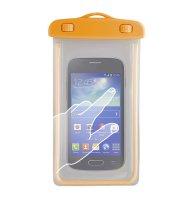 """Pouzdro na telefon voděodolné 4.8 - 5.8"""" GLOW oranžová"""