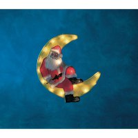 Vánoční osvětlení do okna Konstsmide Měsíci a Santa, 20 žároviček