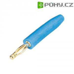 Lamelový konektor Ø 2 mm Schnepp FK 2000 (FK 2000 bl), zástrčka rovná, modrá