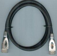 Kabel HDMI(A)-HDMI(A) 1m, opletený kabel 8mm, DOPRODEJ