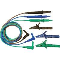 Sada měřicích kabelů zástrčka 4 mm ⇔ měřící hrot Cliff CIH29915, 1,5 m, modrá/zelená/hnědá