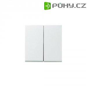 Krytka vypínače Gira, 029527, dvojitá, matná bílá