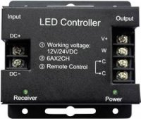 LED kontrolér s dotykovým bezdrátovým ovladačem, 12/24 V/DC, RGB, 288 W