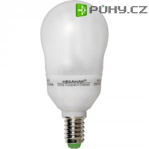 Úsporná žárovka kulatá MegamanUltra Compact Classic E14, 9W, teplá bílá
